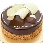 Sarah Cake: Almond sponge cake base, chocolate fondant, pistachio creme brulee and dark chocolate mousse