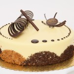 Tiramisu: Sponge cake dipped in coffee syrup and topped with mascarpone cheese mousse
